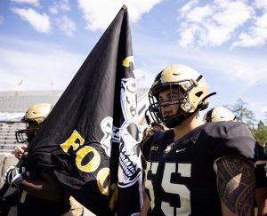West Point's 'firstie' right tackle completes Oceanside hat trick