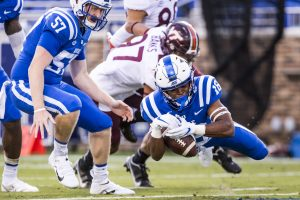 Jaylen Stinson was quick to his feet to provide Duke with an early touchdown