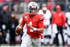 Switzer says his wishbone isn't outdated with players such as Ohio State dual-threat quarterback Justin Fields